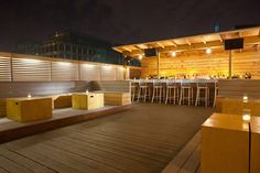 Roof - If you're looking to combine a sports bar and rooftop, Public is your spot. Their roof has 4 big-screen TV's and TONS of space. A word of warning though...weekend nights here are pretty aggressive. Enter at your own risk.