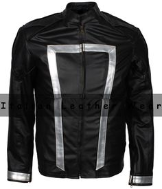 NEW MEN GHOST RIDER AGENTS OF SHIELD SEASON 4 BLACK LAMBSKIN SOFT LEATHER JACKET