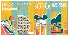 Walt Disney World Four Park Giclee by ArtByLPrentice on Etsy