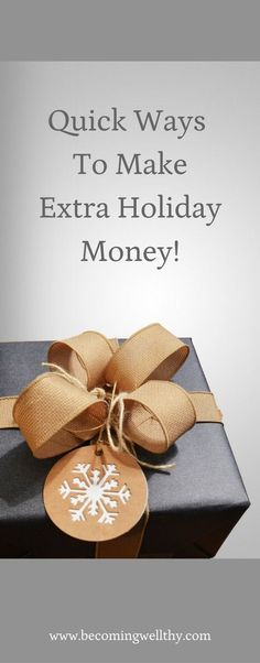 Looking for fun and easy ways to make some extra Christmas and holiday cash for gifts and travel? Check out this list!