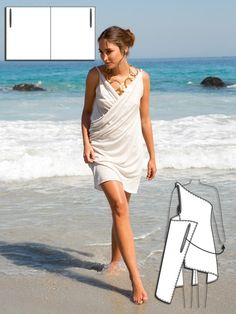 BurdaStyle Easy Grecian-Style, Draped Dress/Coverup; minimal sewing