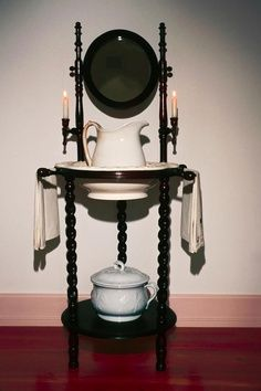 WANT!! Antique wash stand to go with the antique water pitcher and bowl set!!