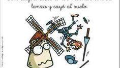 Literatura adaptada. Don Quijote de la Mancha y su aventura con los molinos de viento.