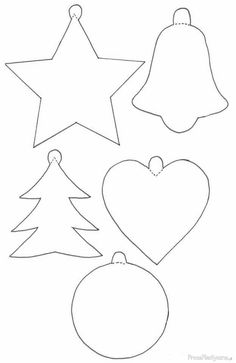 Best 12 Name: 'Sewing : Holly & Berries Applique Pattern – SkillOfKing. Printable Christmas Ornaments, Christmas Ornament Storage, Christmas Stencils, Easy Christmas Decorations, Christmas Templates, Free Christmas Printables, Christmas Tree Ornaments, Christmas Angels, Christmas Art