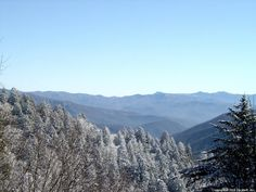 Image detail for -View looking toward Gatlinburg, TN. US 441 in mid winter.