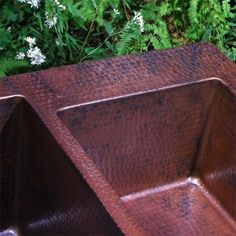 "Copper Farmhouse Sink, Drop In/Undermount, Double Well, 36"" x 22"" x 10"""