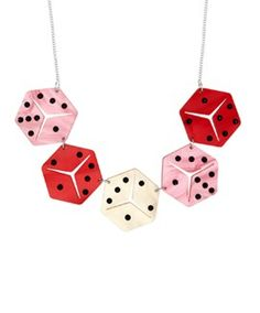 Lucky Dice Link Necklace // Contemporary 2015 // £85