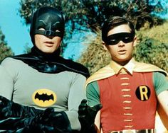 "Batman & Robin..quickly Robin..to the Bat Cave!! :)  Used to play this with my Brother. I was Cat Woman! ""Get 'em boys""!"