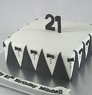 21st Birthday Cake by Deliberately Delicious www