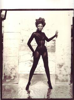 Pearl/Mugler corset, shot by Paul Steinitz. Seriously incredible!