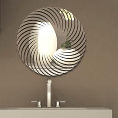 Espelho decorativo de acrílico Espiral  #praticidade #preçobaixo #espelhos #espelhoacrilico #espelhodecorativo #decoraçao #casa