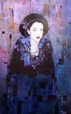 Richard Burlet. I love this color selection and subtle details, like the little widow's peak in her hairline.