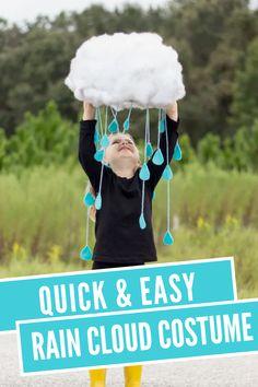Make this awesome rain cloud costume for a fun and easy Halloween costume. #DIYcostume #halloweencostume