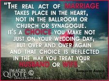 The real act of marriage - Wedding Quote