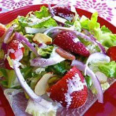 Strawberry Romaine Salad and Creamy Poppy Seed Dressing with Truvia(R) Natural Sweetener Allrecipes.com