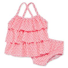 Carter's® 2-pc. Anchor-Print Swim Suit Set – Girls 3m-24m  found at @JCPenney Solid fabric Renesmee