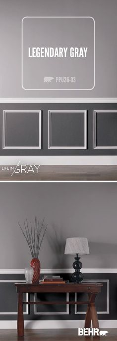 Gray is the perfect neutral. It can be dramatic and moody or soft and warm all at once. Let BEHR help you find your perfect shade of gray with a variety of color palettes to choose from. This entryway uses contrasting shades of gray for a look that is sophisticated and sleek. Find inspiration for every room in your home here.
