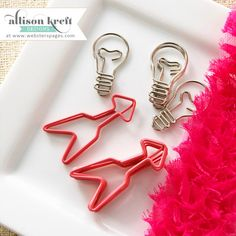 Hey, I found this really awesome Etsy listing at https://www.etsy.com/au/listing/246879535/arrows-light-bulb-paperclips-arrows-and