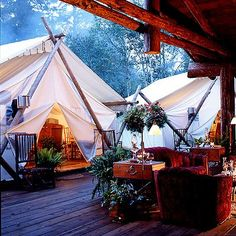 The Coolest Places to go Glamping in Canada - Not a fan of roughing it in the wilderness? From posh tents to tree houses, here's where to go glamping in Canada to enjoy the great outdoors in comfort. Into The Wild, Camping Glamping, Luxury Camping, Camping Nice, Camping Gear, Outdoor Camping, Luxury Travel, Indoor Outdoor, Vancouver Island
