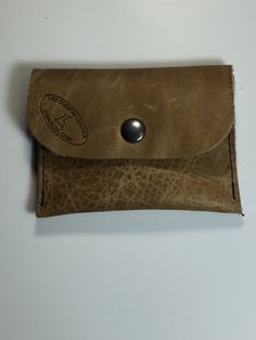 Handmade for grain leather coin / money change pouch Made in USA by LeeCustomLeather on Etsy https://www.etsy.com/listing/242648557/handmade-for-grain-leather-coin-money