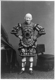 G.K. Fox appeared as a clown at the Olympic Theatre in a show that ran over a year, 1868 (via Library of Congress)