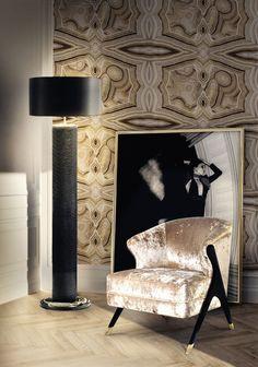 Bedroom Design | Chair Design. Modern Lamps. Floor Light. @koket #modernlamps #floorlight #bedroomdecor Find more at: https://www.bykoket.com/