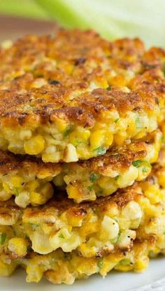 Grilled Corn Fritters...OMG!! These look just like the ones we had when I was in Home Ec class in High School!!...and I forgot how yummy they were!!...love 'em...
