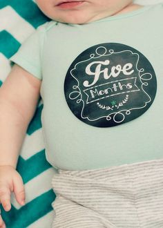 Chalk Monthly Baby Stickers - The cutest monthly baby stickers out there hands down. #PNshop