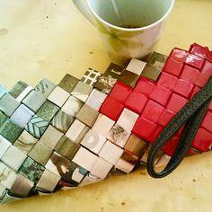 Comme Ca Bags, LisboaPorto, Travelling, grey, reddish purple, recycledbags, wrapper, clutch,  http://commecahandmadecreations.blogspot.gr/