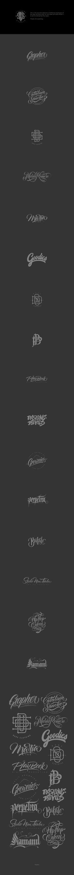 Handlettering Logotypes Vol. 2 on Behance