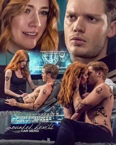 Claire e Jace ❤❤❤ Clary And Simon, Clary Et Jace, Shadowhunters Clary And Jace, Shadowhunters Tv Series, Shadowhunters The Mortal Instruments, Clary Fray, Jace Wayland, Isabelle Lightwood, Immortal Instruments