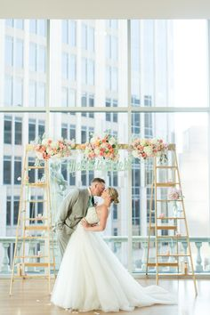 Beautiful Rooftop Wedding at The Foundation for the Carolina's Charlotte, NC Modern Wedding Venue, Rooftop Wedding, Inexpensive Wedding Venues, Indoor Wedding, Dream Wedding, Indoor Ceremony, Rooftop Party, Rooftop Garden, Wedding 2017