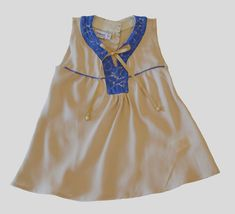 Crystal Clear Solid Top for Girls Secondary Color, Periwinkle, Girl Outfits, Tunic, Beige, Summer Dresses, Crystals, Stylish, Lace