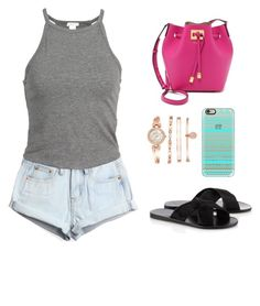 """""""Untitled #550"""" by jessica-biazi ❤ liked on Polyvore featuring WithChic, Ancient Greek Sandals, Anne Klein, Casetify, Michael Kors, women's clothing, women, female, woman and misses"""
