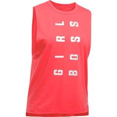 Under Armour Women's Girl Boss Muscle Tank Top (Red, Size Medium) - Women's Athletic Apparel, Women's Athletic Performance Tops at Academy Sports