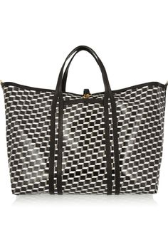 Pierre Hardy | Cube-print coated-canvas tote | NET-A-PORTER.COM