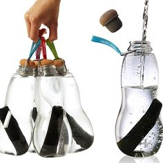 The fact you can carry them by a strap is nice   Black+Blum Eau Good Water Bottle