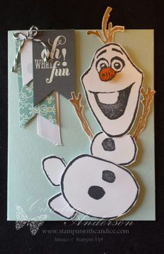 Oh What Fun Olaf Card- Olaf created with the undefined stamp set by Stampin' Up!