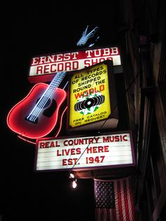 Nashville #One of a Kind.  Ernest Tubb was a recording artist, opened this store, and still to this day it hosts live music to promote artists.