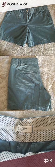 Loft shorts size 4 light teal Adorable loft shorts in a soft teal color. Great condition. LOFT Shorts