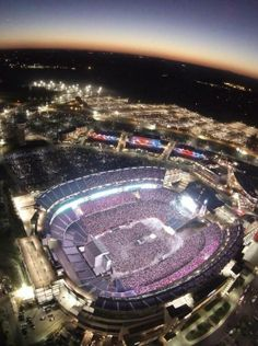 Gilette Stadium, home of the New England Patriots ... the picture is from Kenny Chesney's concert Aug 2013