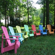Classic Painted Adirondack Chair | Available in 14 colors by Weathercraft  #adirondack