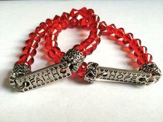 Faith and Hope Bracelet by EmpyreanByDamaris on Etsy, $22.00