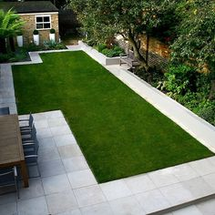 Modern Family Garden in Battersea with patio lighting planting and machined sandstone pathway garden inspiration Garden Design London, Back Garden Design, Garden Design Plans, Backyard Garden Design, Tropical Backyard, Backyard Designs, Modern Landscape Design, Modern Garden Design, Modern Landscaping