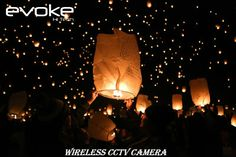 Watch beautiful lanterns light up the night sky at The Lights Fest on Saturday, June at the grounds of the Ohio Renaissance Festival near Waynesville. Light Fest, Light Up, Cctv Camera For Home, Wireless Cctv Camera, Sky Lanterns, Lantern Festival, Tiki Torches, First Night, National Parks