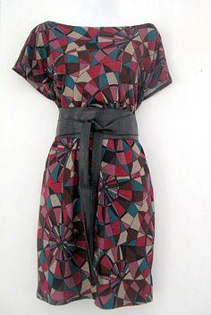 Vestido vitró punto de lana / Kimono (ropa) - Artesanio