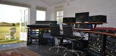 adamaudio: ADAM at The Summerhouse Studio Music Recording Studio, Audio Studio, Recording Studio Design, Home Studio Music, Studio Gear, Studio Setup, Studio Layout, Home Music Rooms, Studio Organization