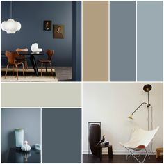 Jotun fargekart 2016 - A journey of colour and lifestyle - Anette Willemine - min side Room Paint Colors, Living Room Colors, Colorful Decor, Colorful Interiors, Interior Design Color Schemes, Basement Living Rooms, Blue Colour Palette, Apartment Design, Room Decor Bedroom