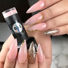 Examples of Beautiful Long Nails to Inspire You ❤️ Glamorous Stilettos picture 1 ❤️ These days long nails are not anything special, and everyone can try wearing them out. What is more, there are trends to follow, and we happen to know all about the freshest ideas when it comes to your nails. https://naildesignsjournal.com/long-nails-ideas/  #nails #nailart #naildesign  #longnails