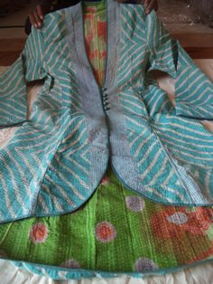 Vintage kantha jackets, kantha quilted jackets, women kantha jackets, reversible jackets, vintage kantha quilt jackets ethnic quilted jacket...